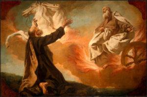 Le prophète Élie jette son manteau sur Élisée.
